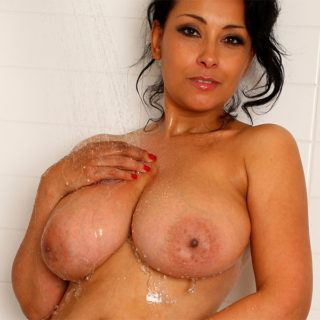 Big tits milf in the shower