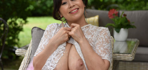 Big breasted Vietnamese wife showing off her boobs