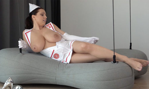 Big breast nurse Ewa Sonnet with uniform open