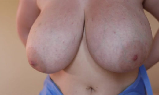 Big boobs seen closeup