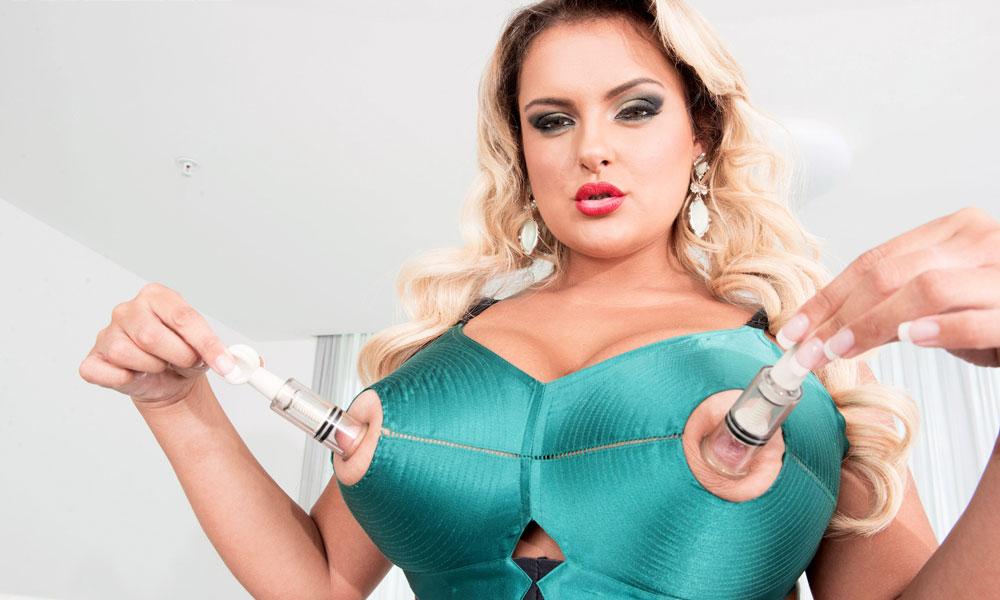 Bra big nipples Katie Thornton Nipple Bullet Bra Mybigtitsbabes